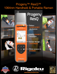 Progeny ResQ 1064nm Handheld Raman Chemical Threat Identification System Overview